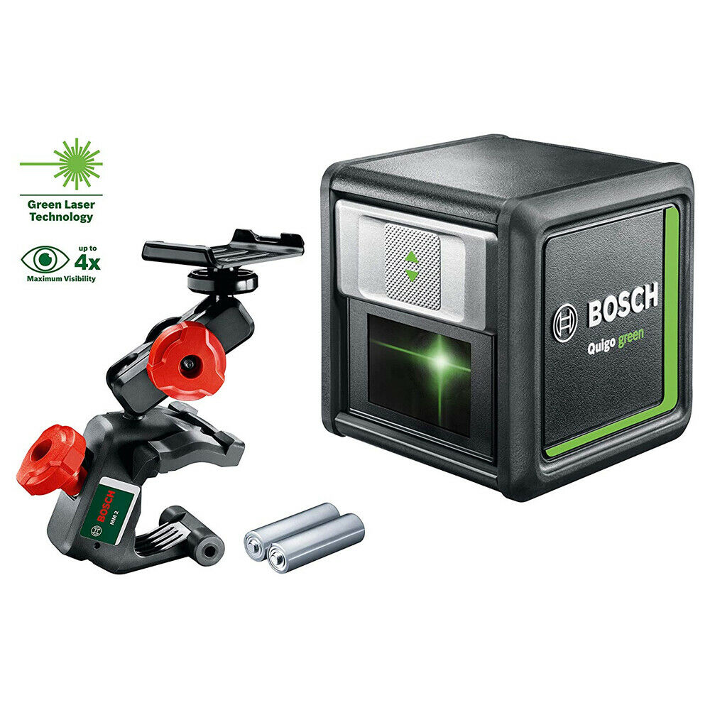 Bosch Quigo Grün Self Levelling Cross Line Laser Level 0603663C00