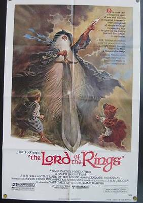 Lord of the Rings Tolkien,Bakshi animate cartoon 1978 original movie poster 107