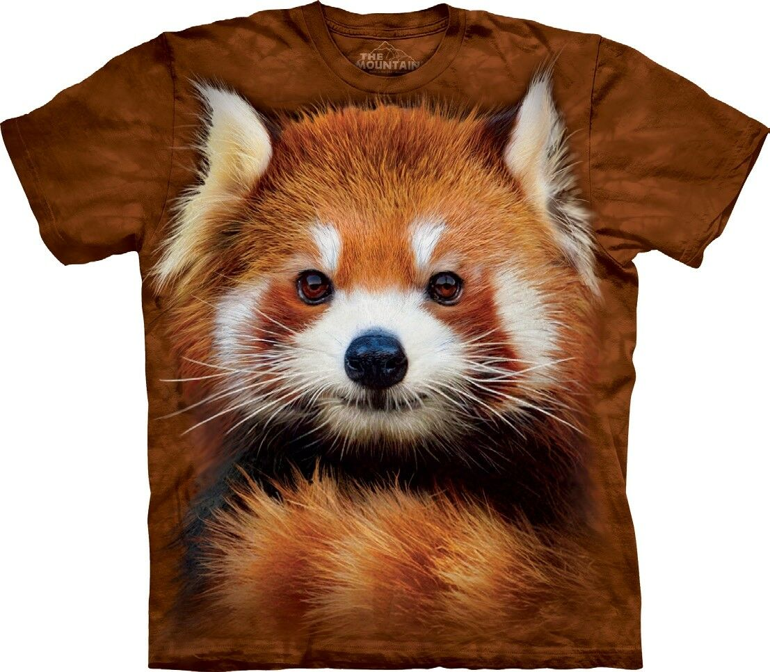 The Mountain Unisex Adult Red Panda Portrait Animal T Shirt