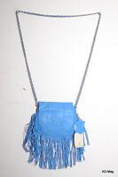 Sac À Main / Pochette Femme En Cuir - Pieces Pcnia Leather Bag - Bleu - Neuf