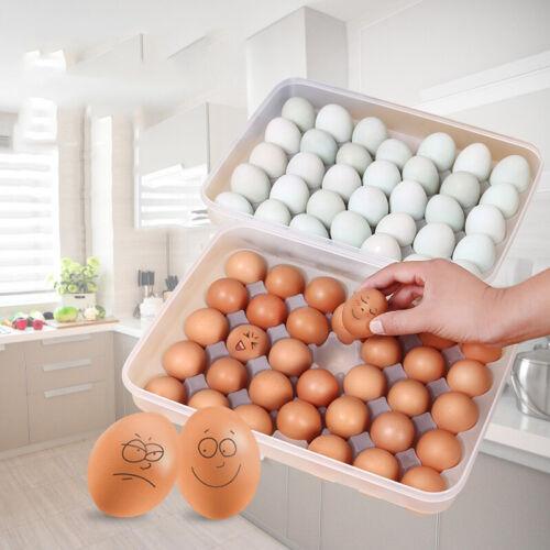 Eierbox 34 Eier Eierbehälter Eierträger Eierdose Eierhalter Kühlschrank Zubehör