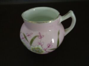 Small-Pink-Floral-Porcelain-Creamer-Unmarked-Cat-2B043