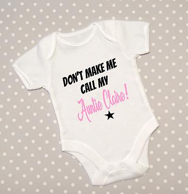 Don/'t Make Me Call My Nanny Nan Nanna Gran Baby Grow Babygrow Bodysuit Top Gift