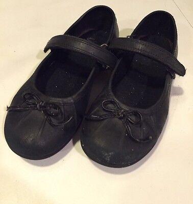 Zapatos Clarks Niñas Escuela-Negro 8.5 (medio) e