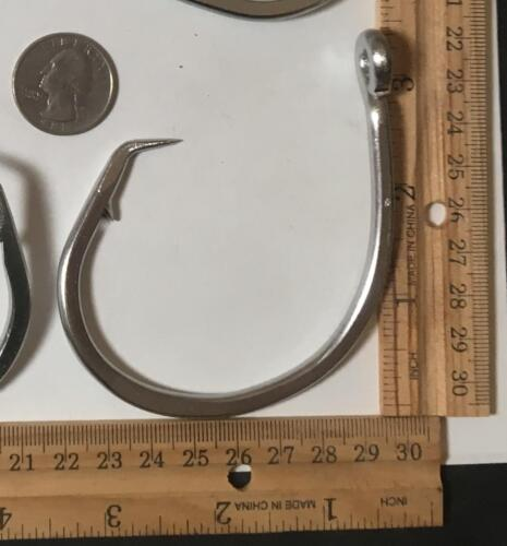 25 39965 size 20//0 Stainless Steel  Circle Hooks NEW