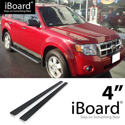 Running Board Side Step 4in Silver Fit Ford Escape Mazda Tribute 08-12