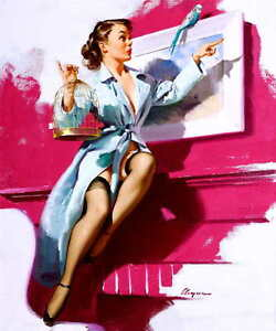 Details about PRETTY CAGEY 1953 GIL ELVGREN VINTAGE PIN UP GIRL POSTER  PRINT 50x42 9MIL PAPER