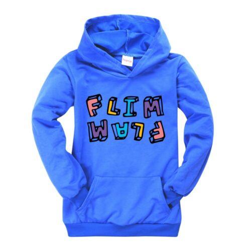Kids Flamingo Flim Flam Hoodie Jumper Hooded Sweatshirt Jacket Tops Shirt 2-13Y