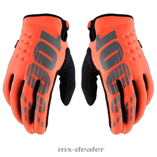 100/% percent Brisker Neoprene Winter Gloves MTB MX Motocross Enduro Orange