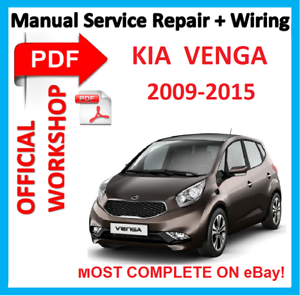 official workshop manual service repair for kia venga 2009 2015 ebay rh ebay co uk 2016 Kia Sorento 2016 Kia Sorento
