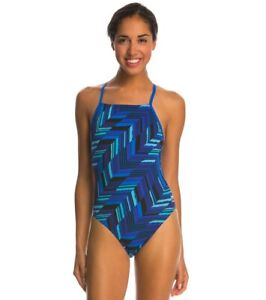 Speedo-Women-039-s-Endurance-Angles-Free-Back-One-Piece-Competition-Swimsuit