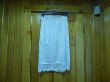 """Vassarette half-slip size L in white 4"""" of lace at hem 28"""" in length"""