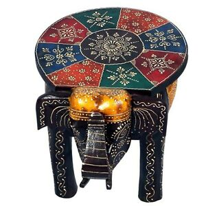 Phenomenal Details About Wooden Elephant Stool Handmade Henna Cone Work Decorated 25 Cms Onthecornerstone Fun Painted Chair Ideas Images Onthecornerstoneorg