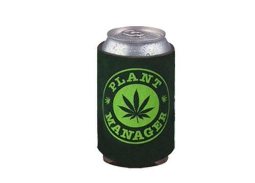 "Stonerware Pot Leaf ""Plant Manager"" Can Cooler"