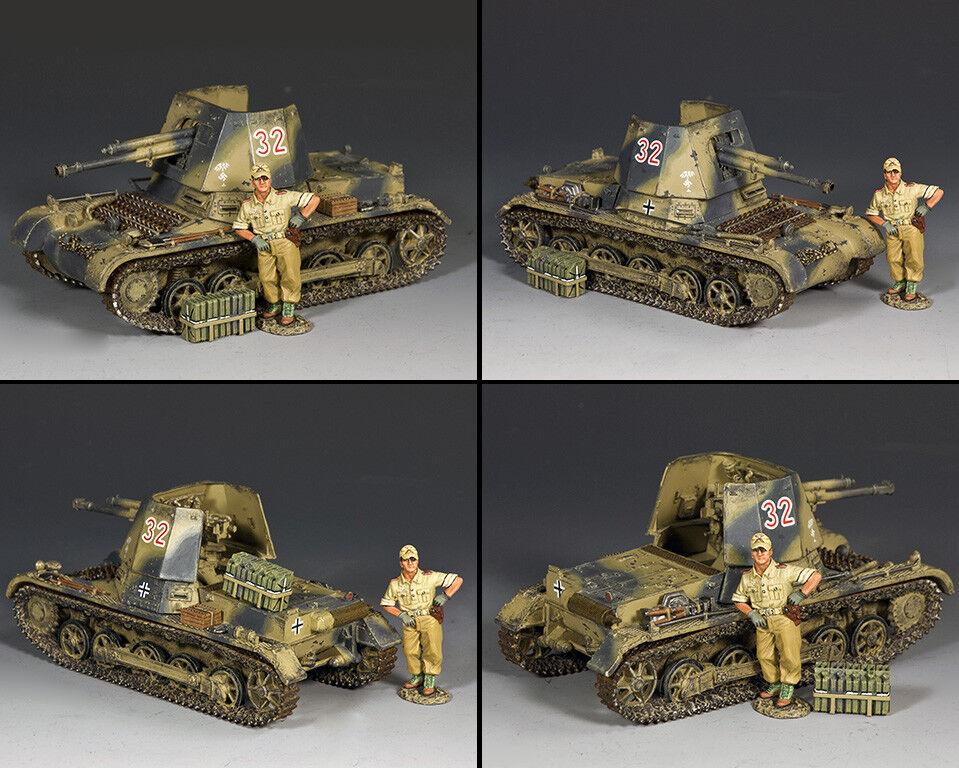 KING AND COUNTRY Panzerjager 1 Tank & Afrika Korps Figure AK117
