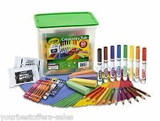 120 PC Kids Art Crayola Color Caddy Set Tub Markers Paints Crayons ...