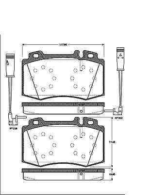 pastillas de freno delantero Mercedes clase C w203 s203 CLK c209 a209 Discos de freno