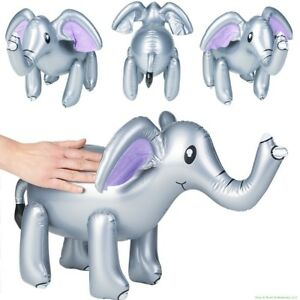 """24"""" Inch Gray Elephant Inflatable Zoo Animal - Kid Party Pool Blow Up Toy"""