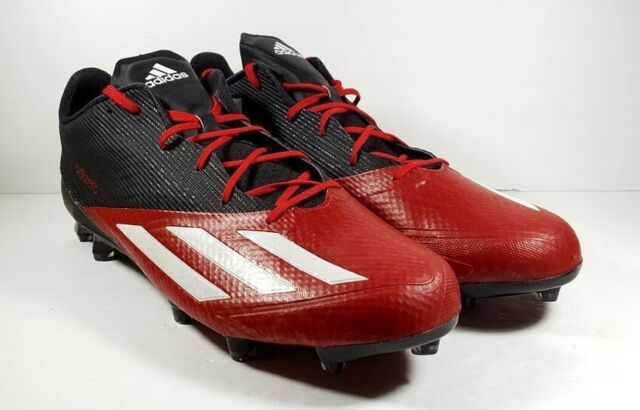 separation shoes 1b428 15652 NEW adidas adizero 5 Star 5.0 Low Football Cleats BlackRed Q16070 Men