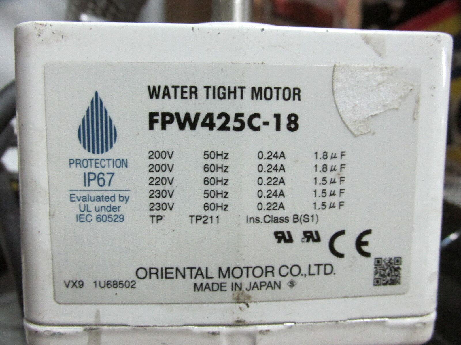 Oriental motor FPW425C-18 Water tight IP67 light use