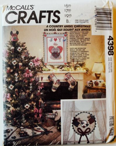 McCalls Winter Christmas Holiday Crafts Sew Pattern Angels Snowmen UC ~ U PICK!