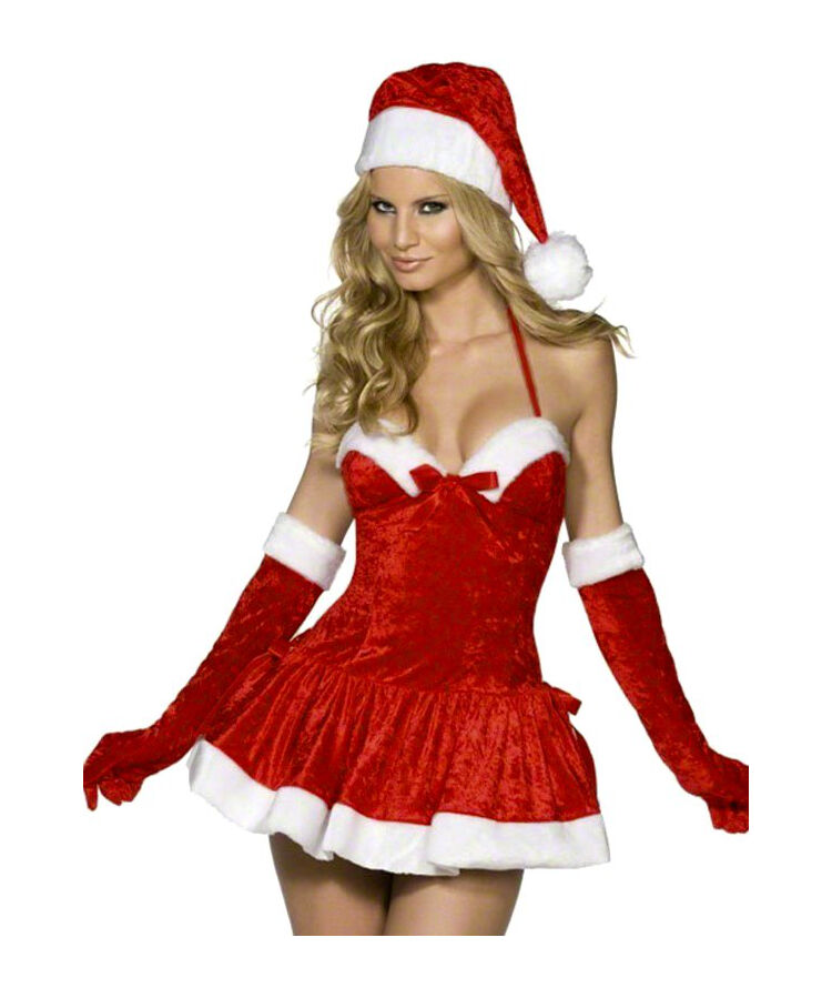 Suzanjas High Quality Christmas Costume Lingerie Incl. Hat, Size S-L