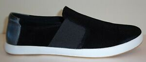 English-Laundry-Size-10-GREEN-Black-Leather-Slip-On-Sneakers-New-Mens-Shoes