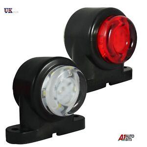2x 12 LED SMD Lateral Goma Luz de Luces Gálibo Remolque Camión Camiones 24v