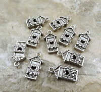 10 Pewter Outhouse Charms - 1703