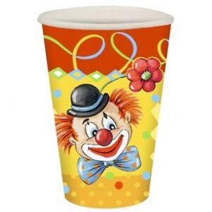 Clown Enfants Anniversaire Tasse, 0,2 Litres, Boîte De 10 Gobelet-ag Becher, 0,2 Liter, Packung Mit 10 Pappbecher Fr-fr Afficher Le Titre D'origine