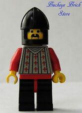 LEGO Minifig FRIGHT KNIGHTS 2 w/ Black Chin Guard Helmet - Castle Soldiers 6097