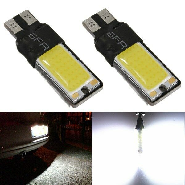 2x T10 W5W 194 168 COB LED Canbus Error Free Wedge Side Light Bulb Lamp White