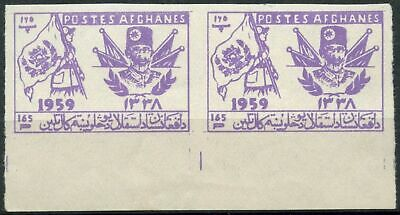 Ambitious Afghanistan 1959 Sg#447-8 Independence Day Mnh Imperf Pair #d90139 Big Clearance Sale Middle East
