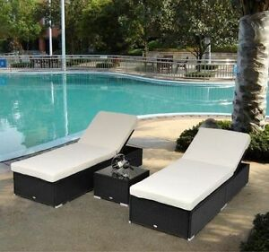 patio couch set image is loading  pc outdoor wicker rattan chaise lounge chair