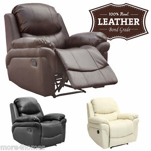 Merveilleux Image Is Loading MADISON LEATHER RECLINER ARMCHAIR SOFA HOME LOUNGE CHAIR
