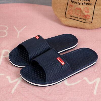 Summer Men Beach Slippers Sandals Slip On Shower Bathing Sliders Shoes Flip Flop