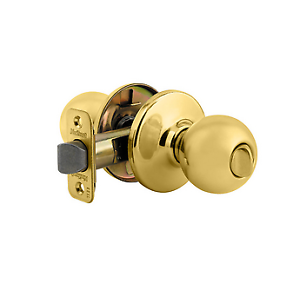 Kwikset-300P-3-RCAL-RCS-93001-209-Polo-Bed-Bath-Knob-Polished-Brass