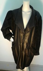 W Black Gorgeous Printed Dame Xl Læder Wilsons Coat Jacket Trench Detail xqYnEvwvA