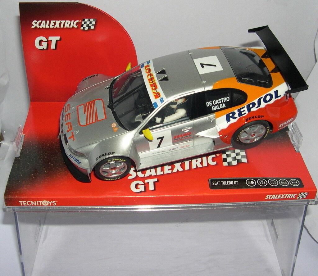 Qq 6301 SCALEXTRIC SEAT TOLEDO GT   7 DE CASTRO - BALBA REPSOL