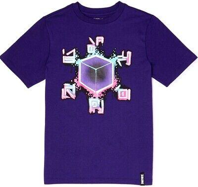 KEVIN RUNES Spray Graphic NWT 8 Boy/'s FORTNITE Purple T Shirt Size M