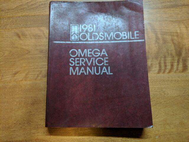1981 Oldsmobile Omega Service Manual