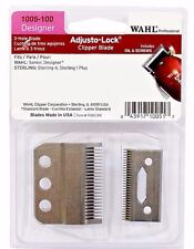 WAHL ADJUSTO-LOCK 3 HOLE CLIPPER BLADE+OIL & SCREWS #1005-100 UPC, 043917100517