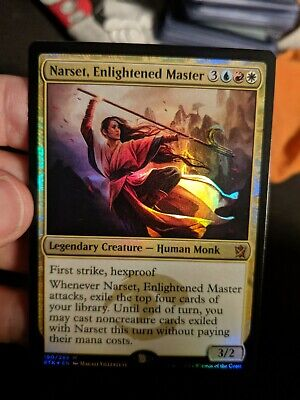 rare Magic the Gathering MTG Khans NM ENLIGHTENED MASTER 1x NARSET