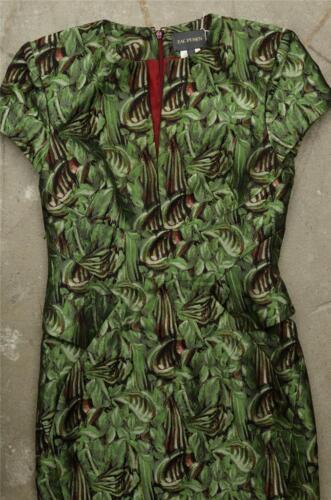 Di Jacquard Verde Foglia Donna Zac Posen Cocktail Aletta Ad Manica 4qvx77