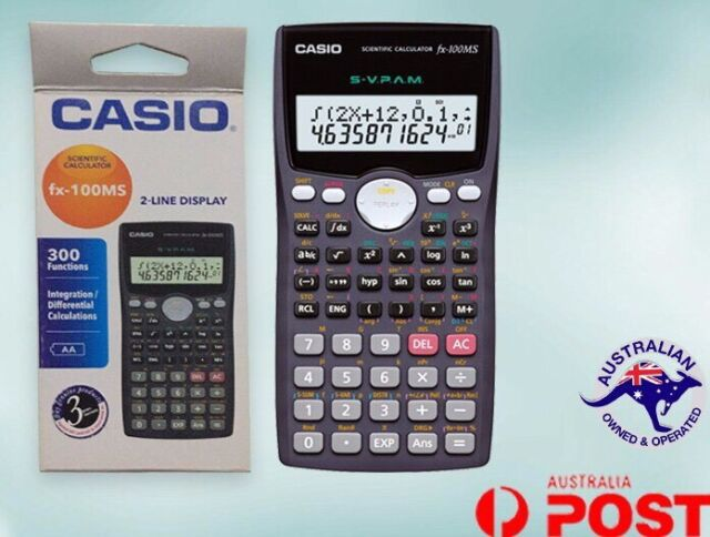 CASIO FX100MS Scientific Calculator 300 Functions 2-Line Display FX-100MS NEW