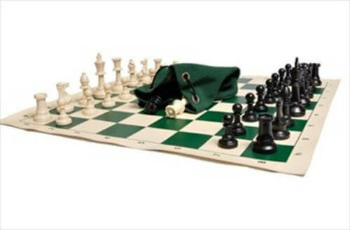 Triple Weighted PiecesVinyl ChessboardD Drawstring Chess Set Combination
