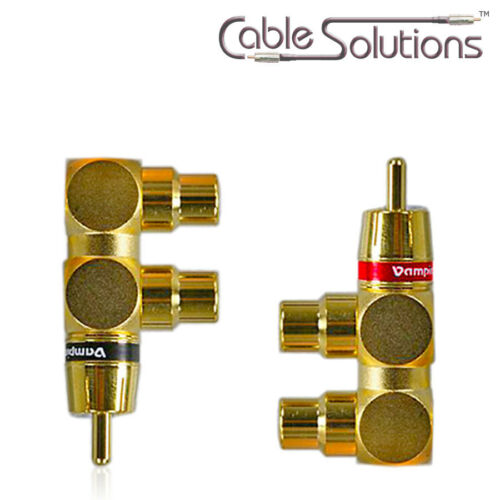 All Metal Vampire Wire #YF 1-Male//2-female RCA Gold Y Adapters