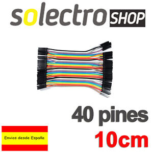 40x-CABLES-Hembra-Hembra-10cm-jumpers-dupont-arduino-protoboard-Female-K0105