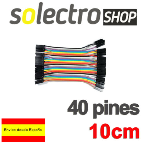 40x CABLES Hembra Hembra 10cm jumpers dupont arduino protoboard Female K0105