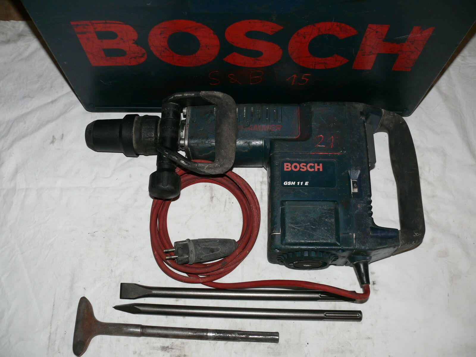 Bosch GSH 11 E MEISSELHAMMER STEMMHAMMER SCHLAGHAMMER ABBRUCHHAMMER BOSCHHAMMER